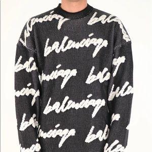 Balenciaga 3D Scribble Knit Sweater